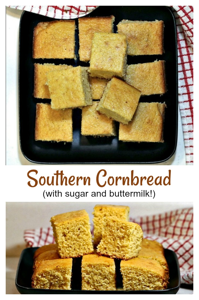 This Southern cornbread has a hint of sweetness and the tang of buttermilk