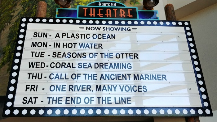 Movie Marquee about ocean life