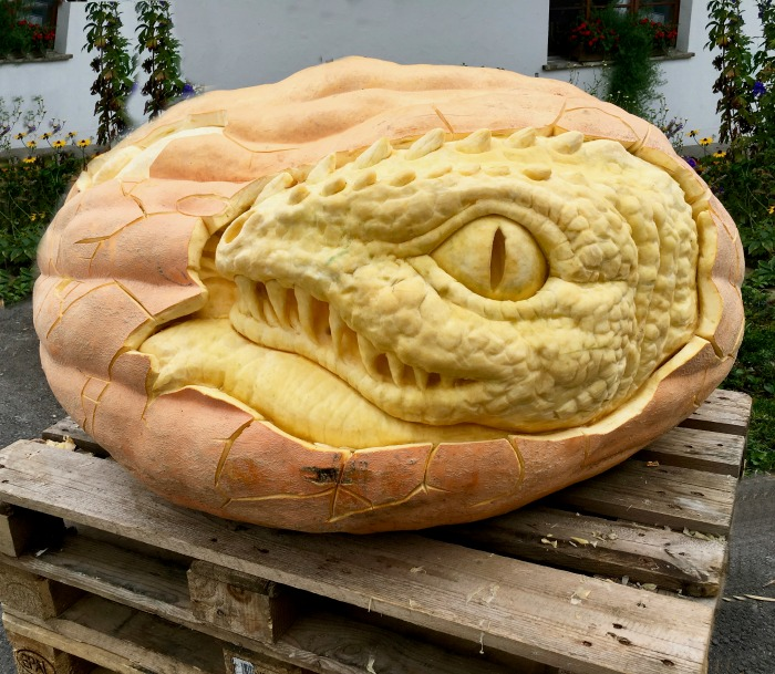 Snake head pumpkin carving