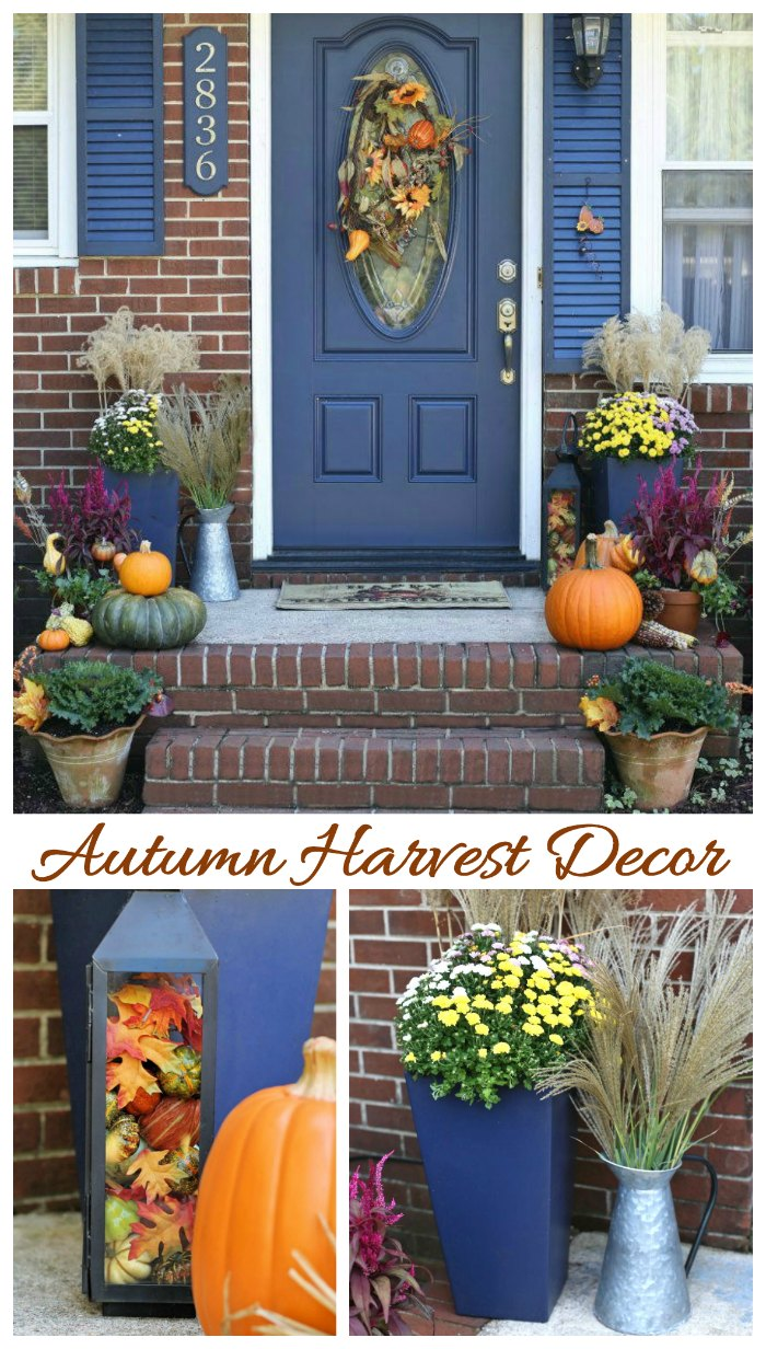 Autumn harvest decorations