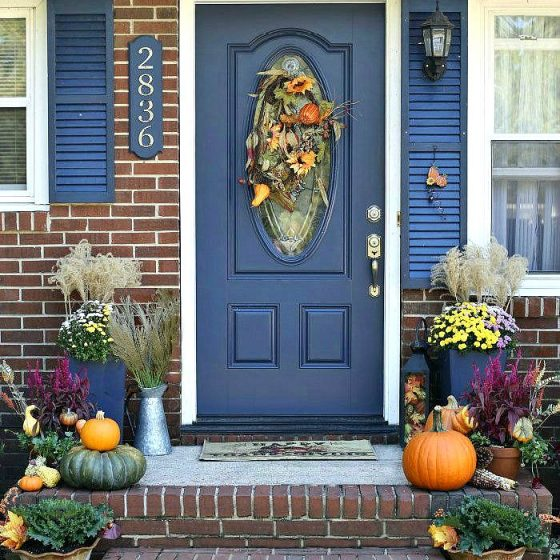 front porch decor for fall