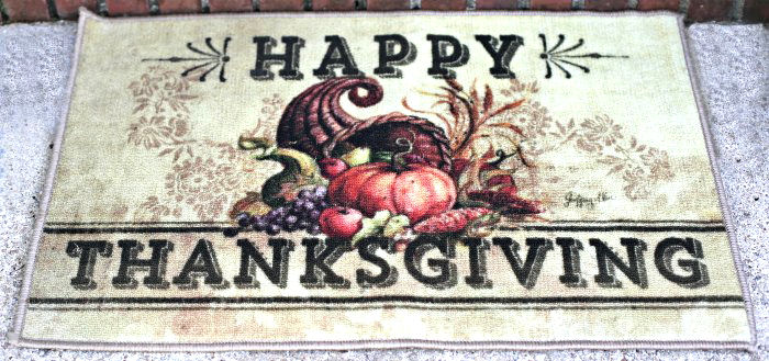 Thanksgiving door mat