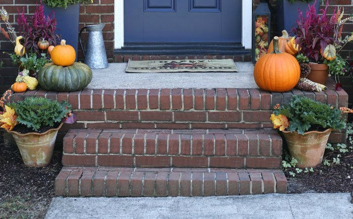 Front Porch Decor For Fall Autumn Entry Decorating Ideas