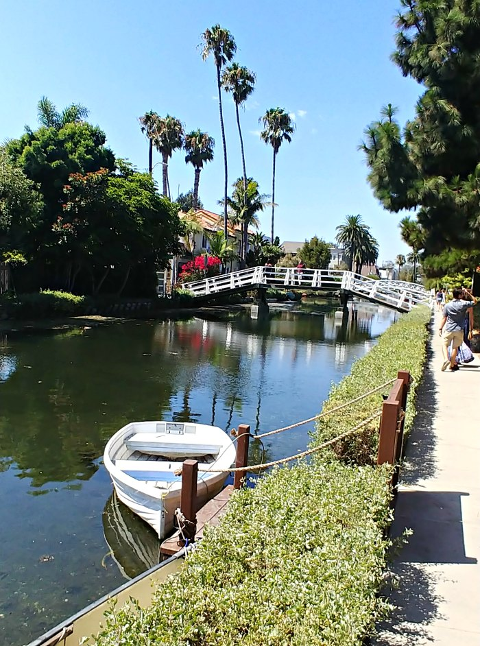 Venice Beach Boardwalk shot of the canals