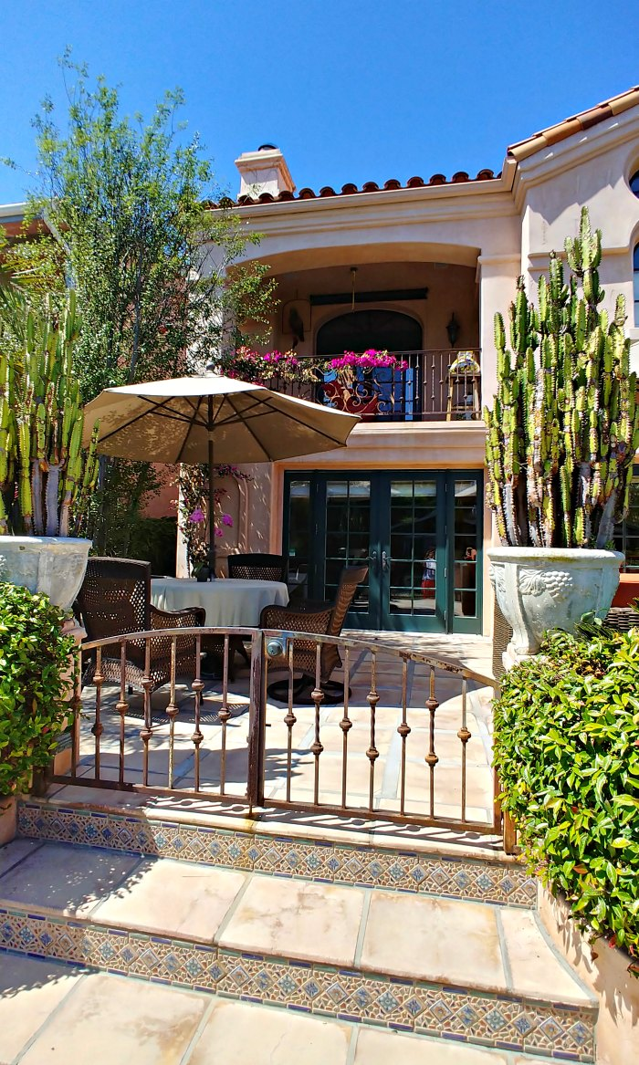 Patio of a home on the Venice Canal Historic District