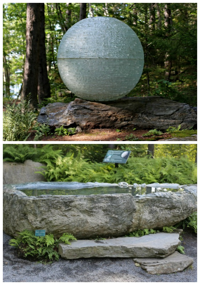 Boothbay Botanic Garden om the coast of Maine has a great meditation garden