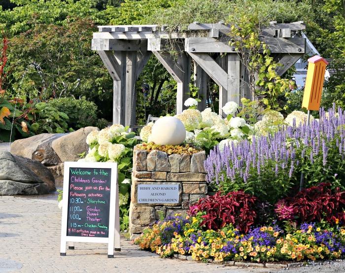 Children's garden in Coastal Maine Botanical Garden