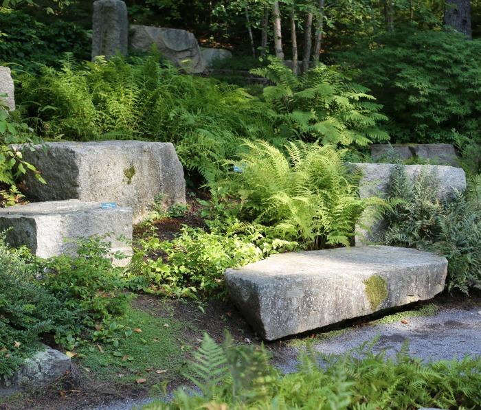 Meditation Garden with Granite Seats