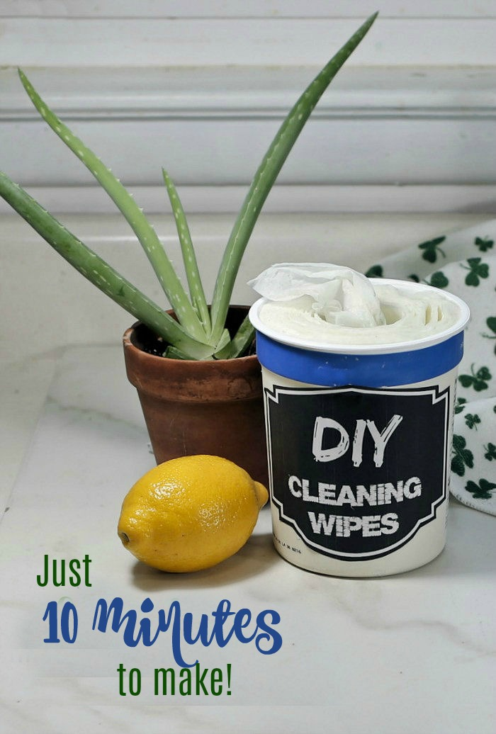15 minute DIYcleaning wipes