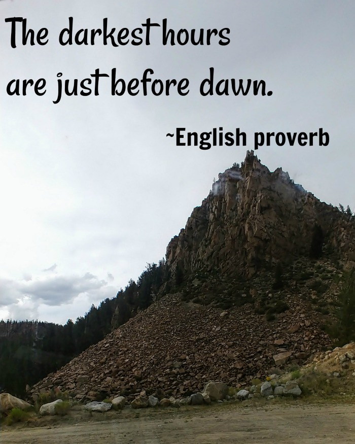 Colorado mountains with hope quote