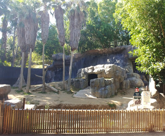 chimpanzee enclosure at the Los Angeles Zoo and Botanical Gardens