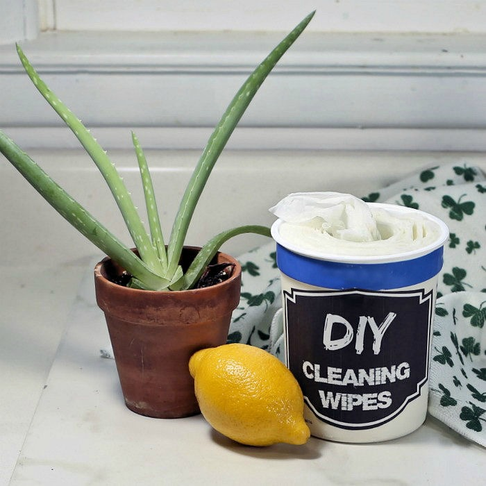 DIY cleawnig wipes
