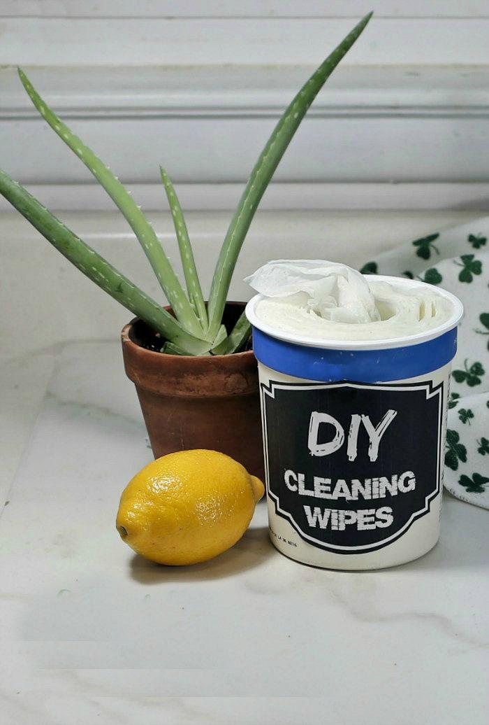 DIY disinfectant wipes