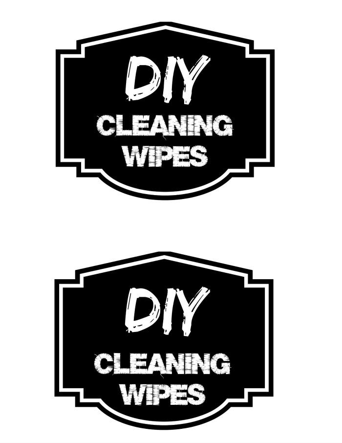 DIY disinfectant wipes label