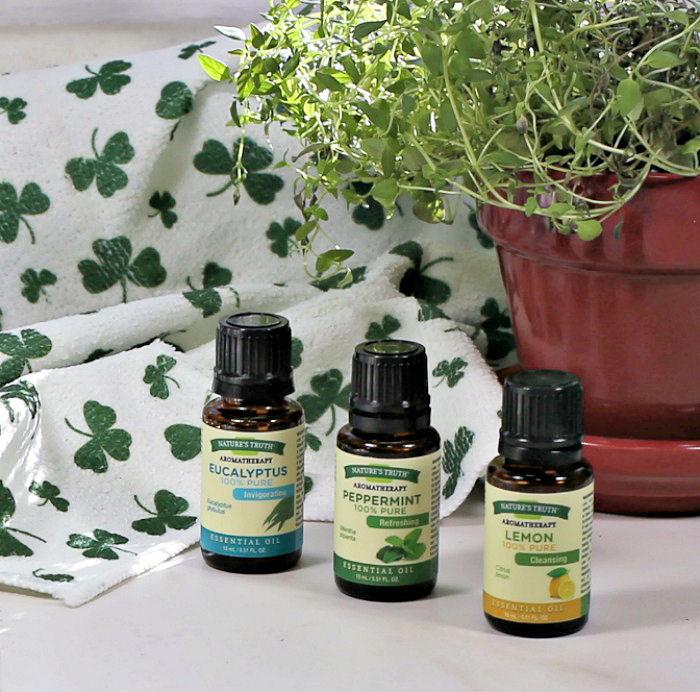 Bottles of essential oils