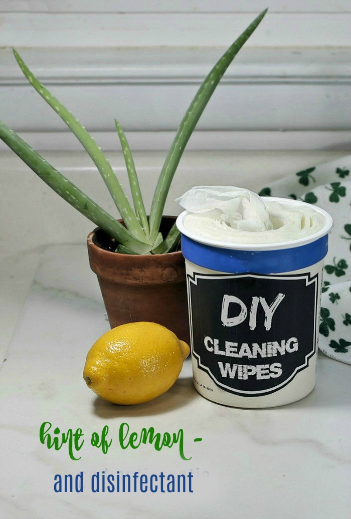 Disinfectant DIY cleaning wipes