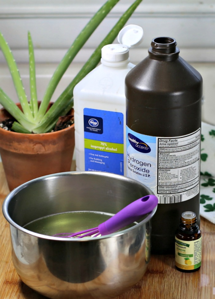 Making a solution for disinfectant wipes