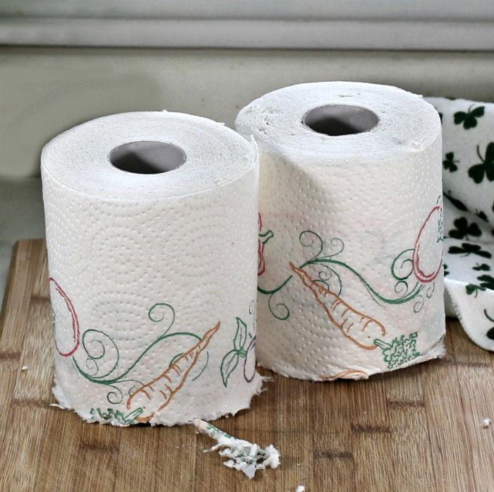 cut paper towel roll