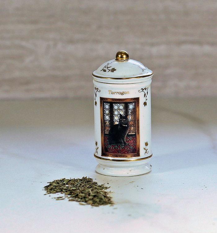 Bottle of dried tarragon