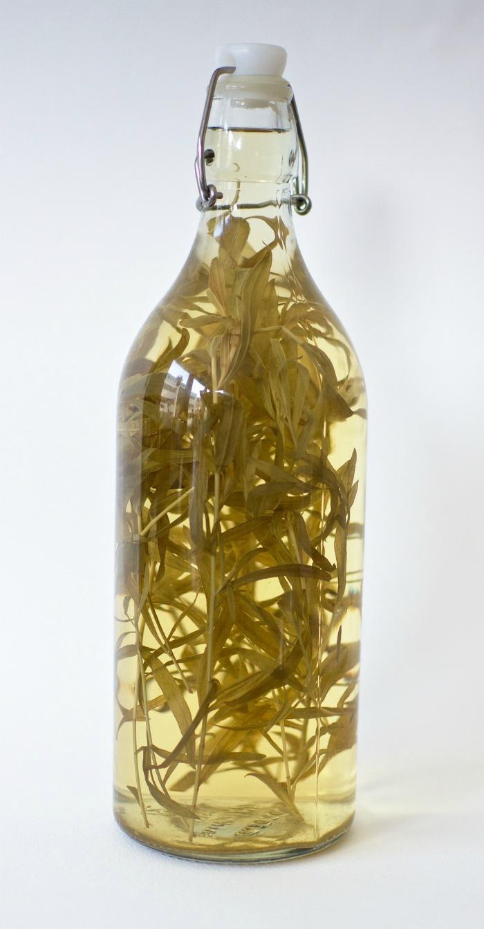Bottle of tarragon vinegar