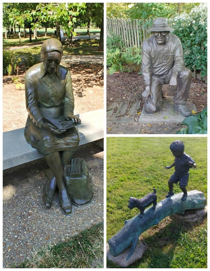 Bronze Statues at Springfield Botanical Gardens in Missouiri