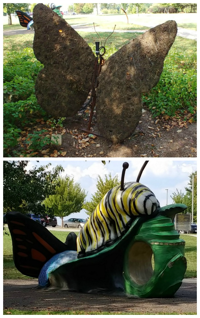 Butterfly planter and caterpillar playground at the Springfield Botanical Gardens