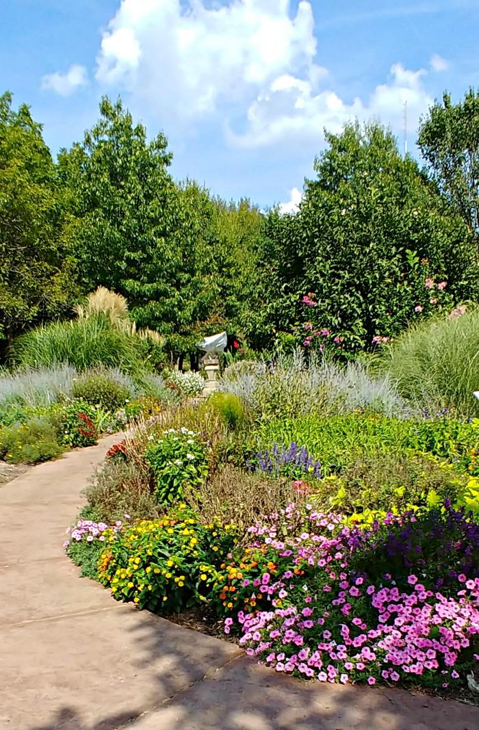 The English Garden at Springfield Botanical Gardens