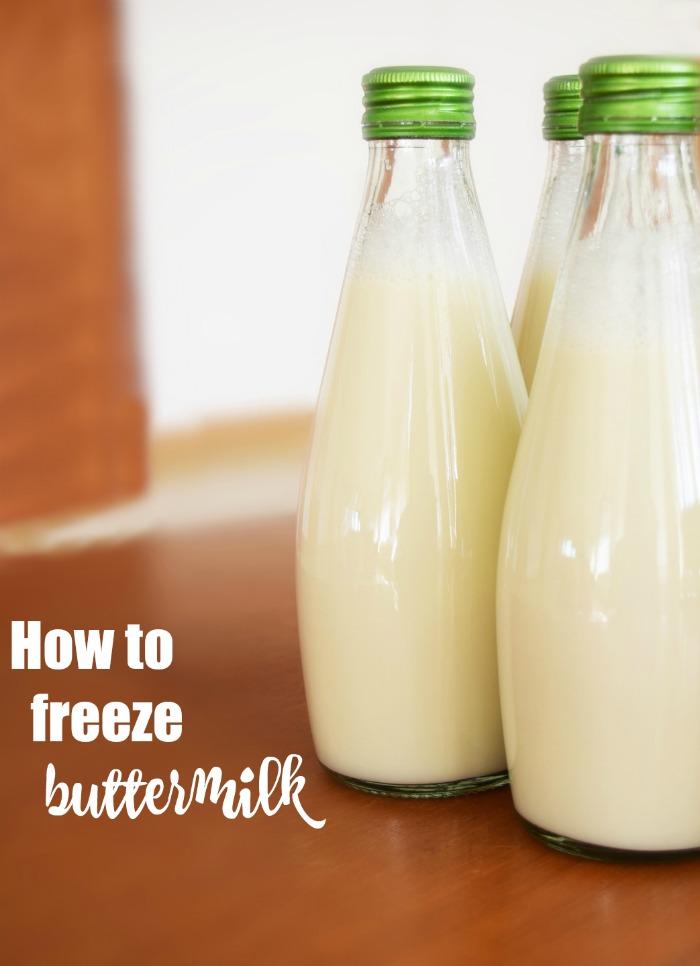 Cooking hacks - how to freezer buttermilk