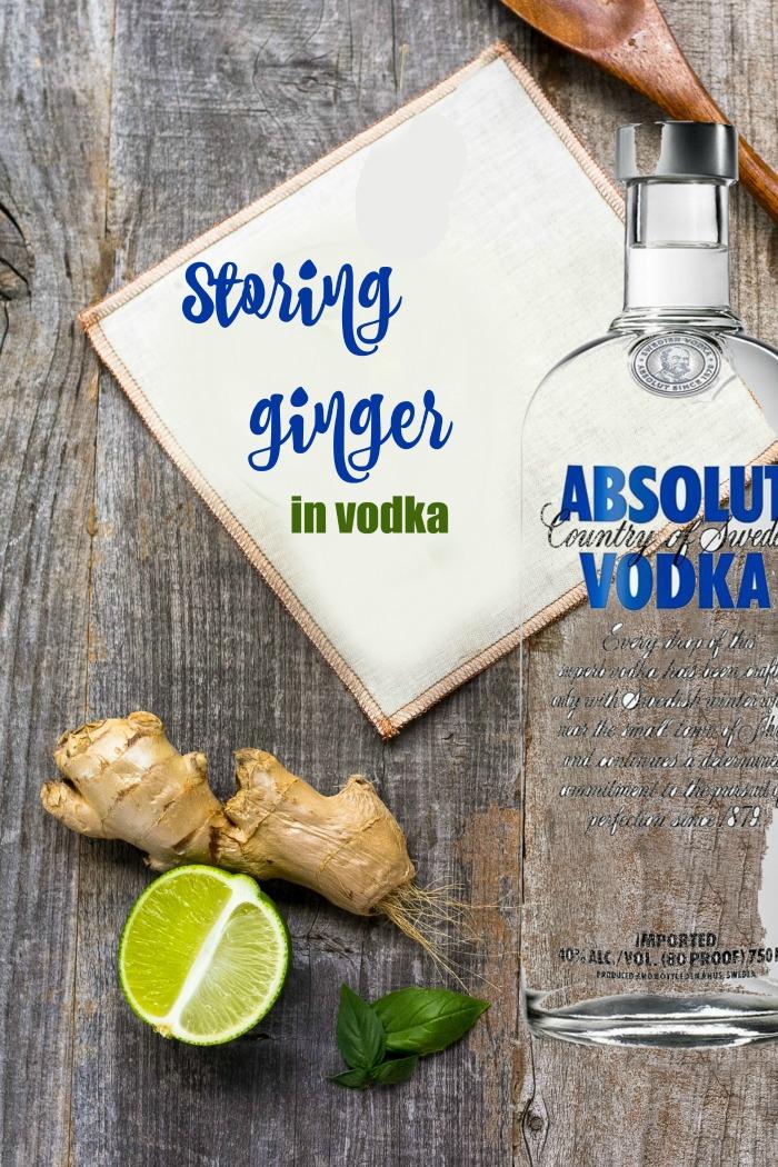 'Cooking hacks - storing ginger in vodka