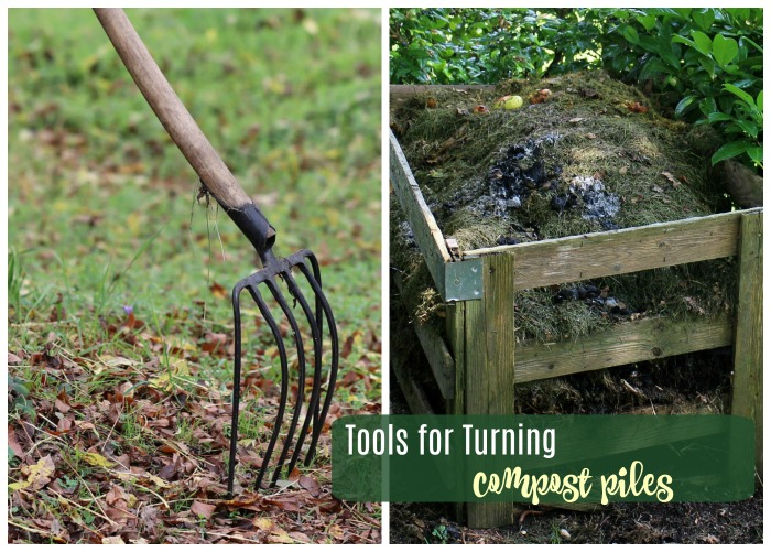 Tools for turning a compost pile