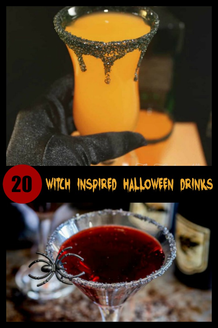 20 Witch inspired cocktails for Halloween that are sure to scare.