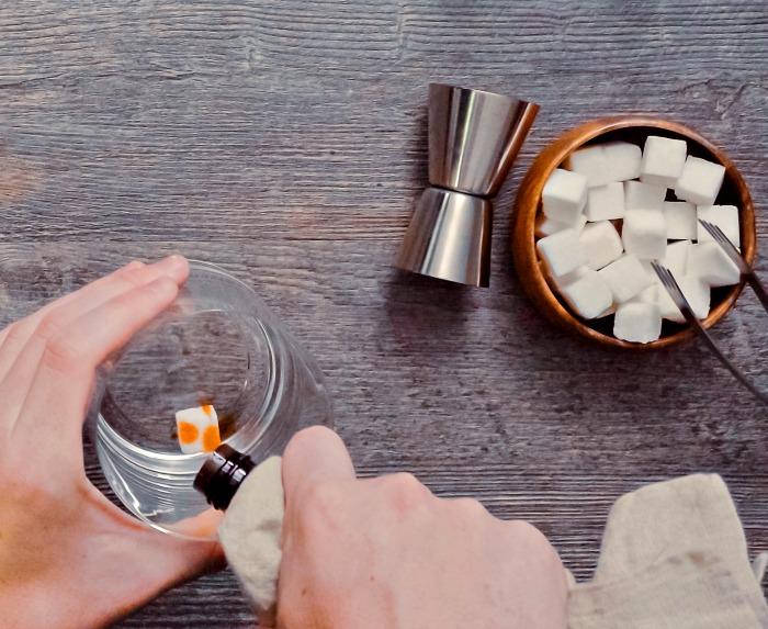 soaking sugar cubes in bitters