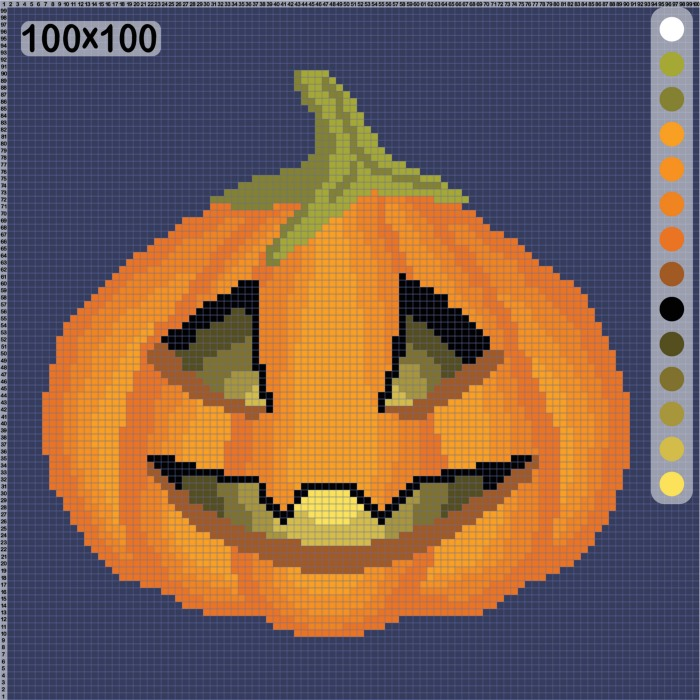 Pumpkin embroidery kit.