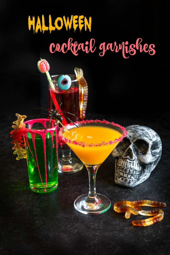 Spooky and exciting Halloween cocktail garnishes.