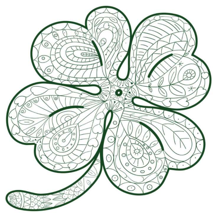 Shamrock Quote Coloring Sheet