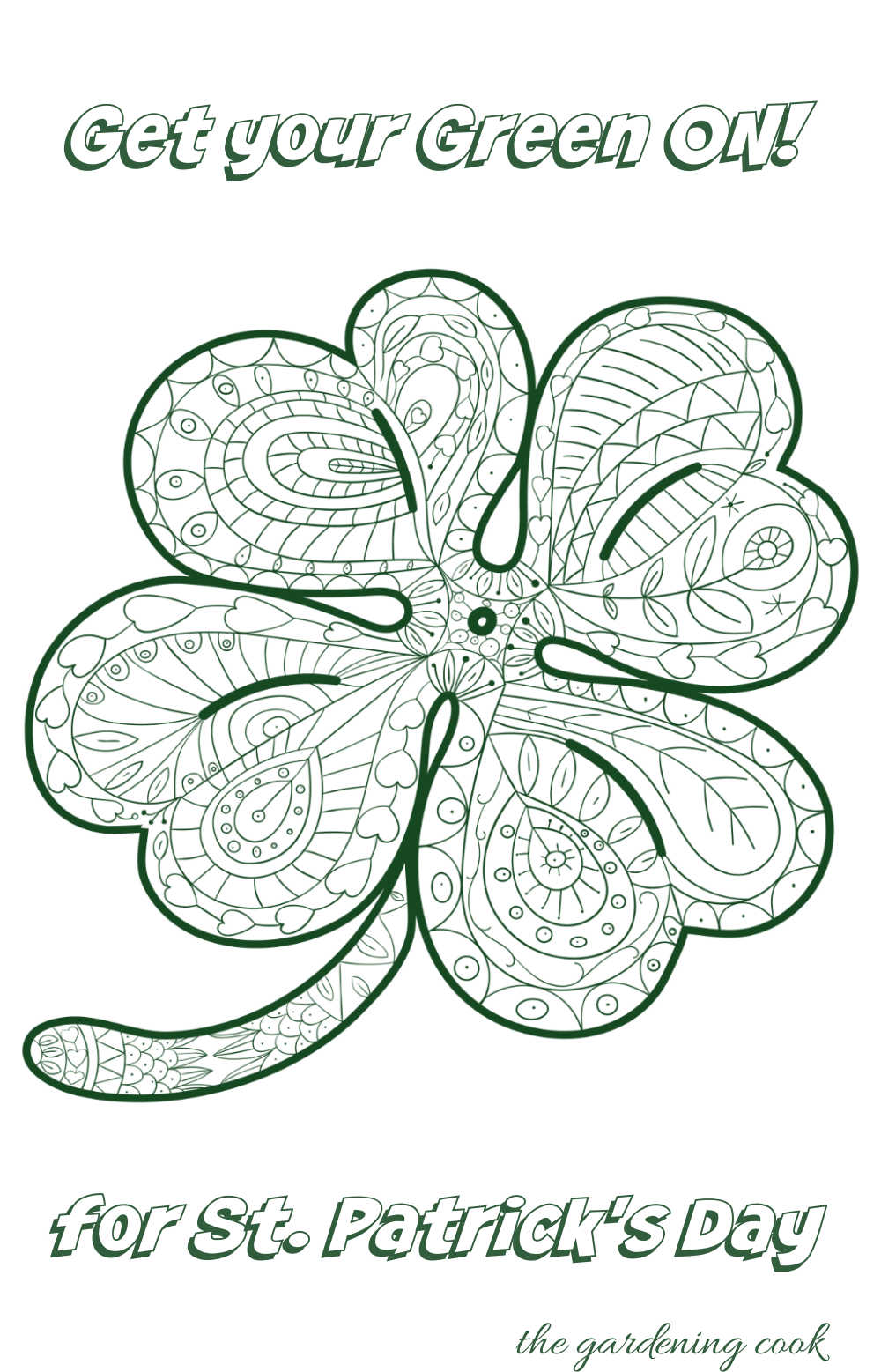 Shamrock colloring sheet