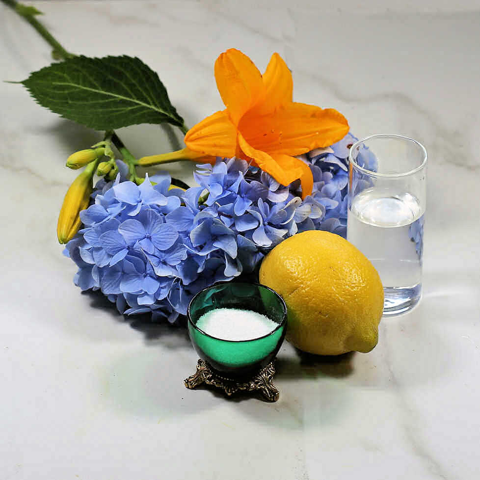 How to keep cut flowers fresh - Use Sugar, lemon and bleach.