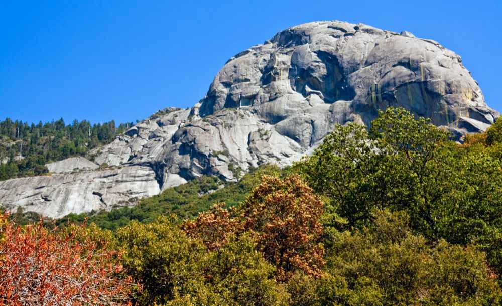 View of Moro Rock in Sequoia National Park.