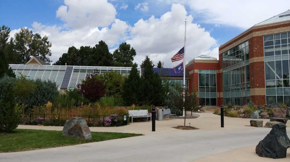 .Entry to Cheyenne Botanic Gardens in Wyoming.