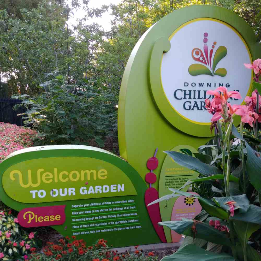 Signs for the Downing Children's Garden at Botanica The Wichita Gardens.
